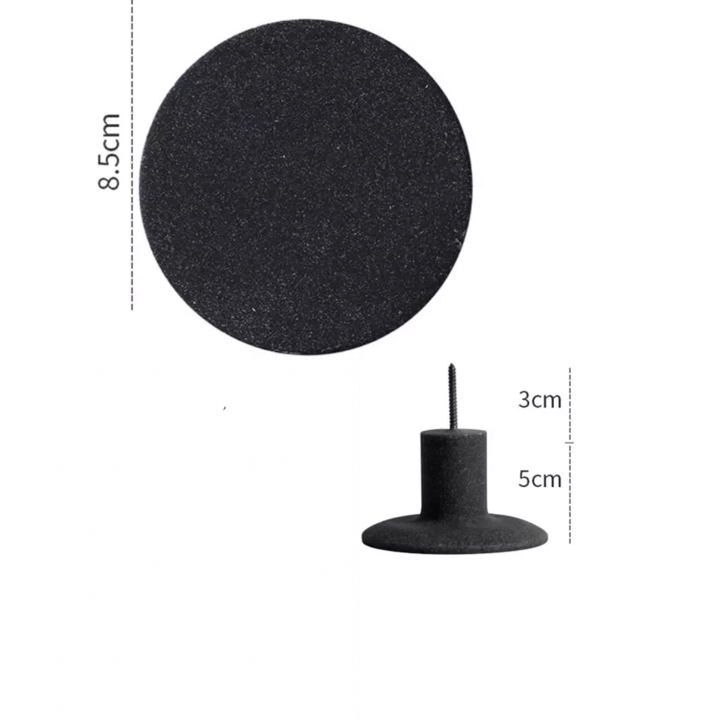Wandhaak zwart 8,5 cm kopen?
