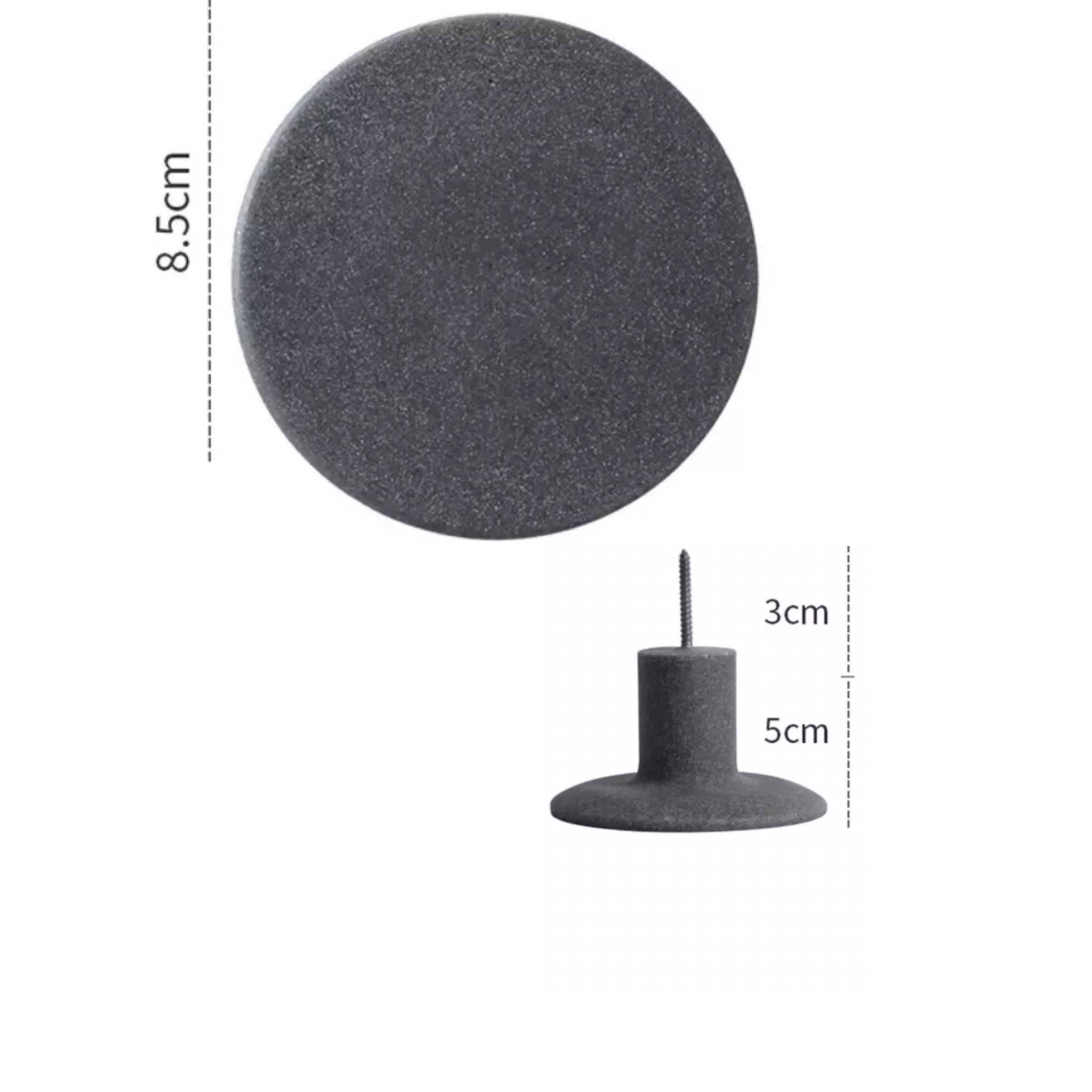 Wandhaak grijs 8,5 cm kopen?